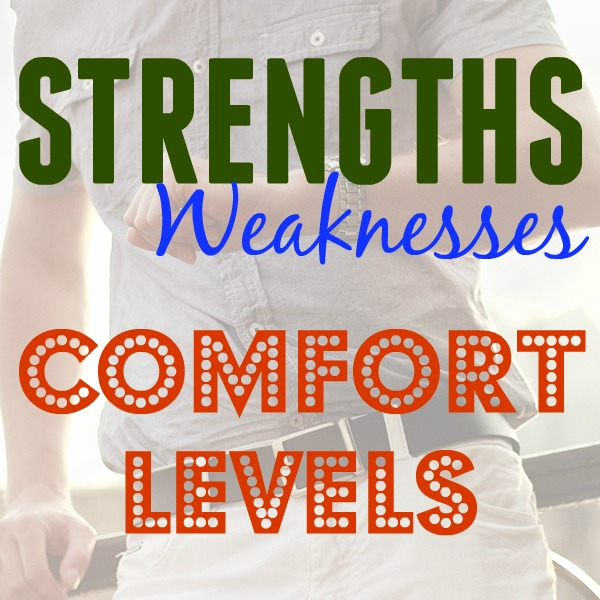 Strengths, Weakness, Comfort Levels